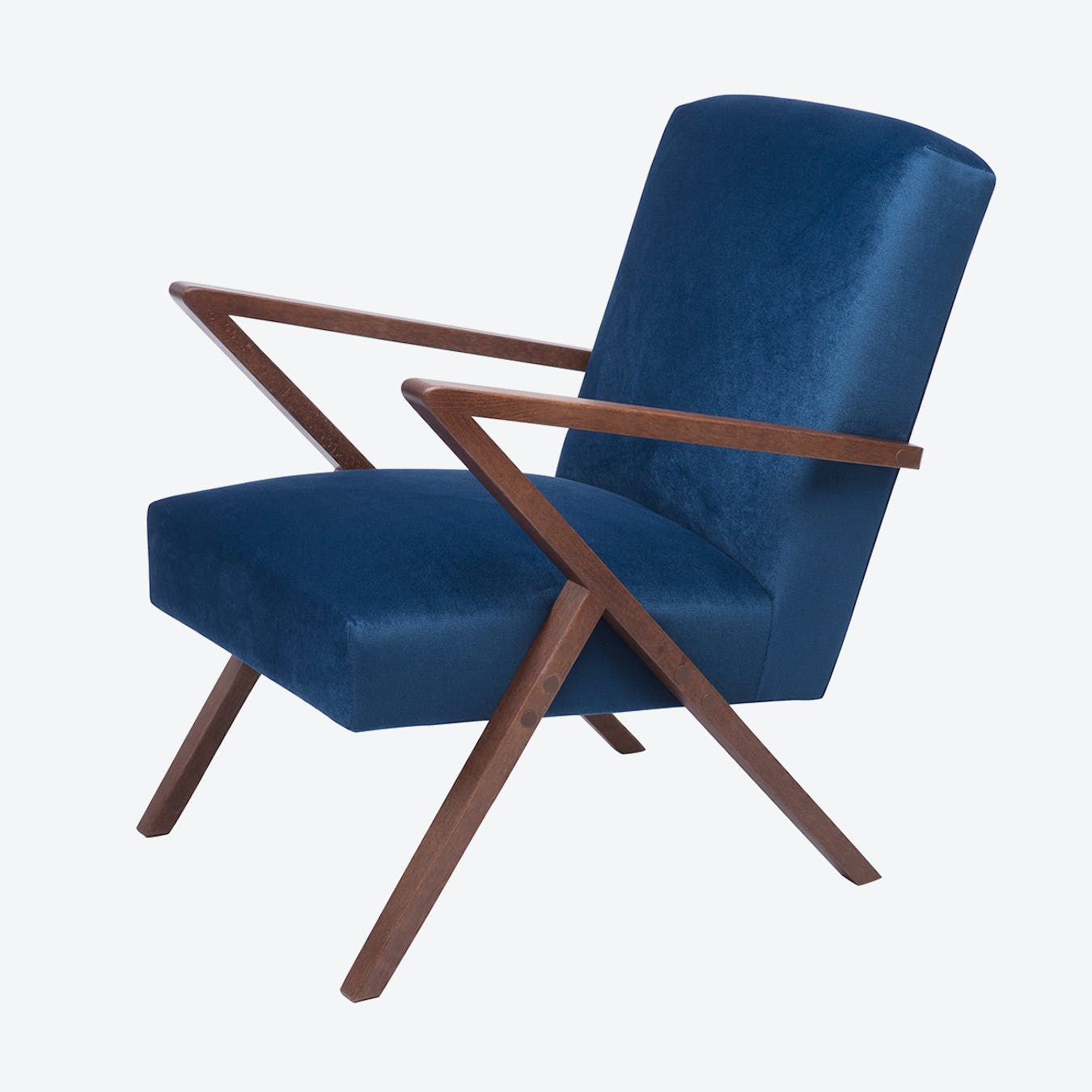 Retrostar Chair - Velvet Line in Royal Blue