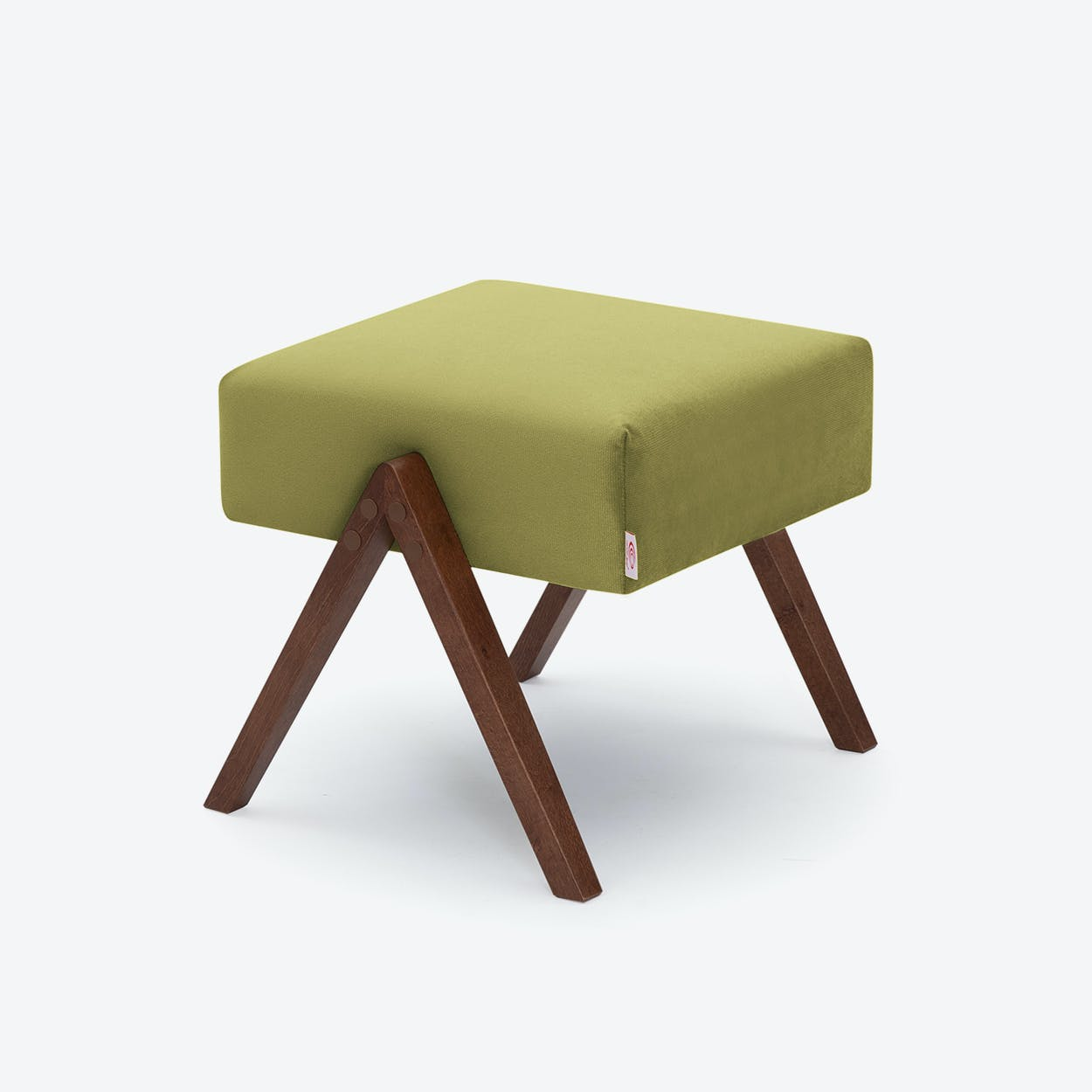 Retrostar Footstool - Velvet-Line in Apple-Green