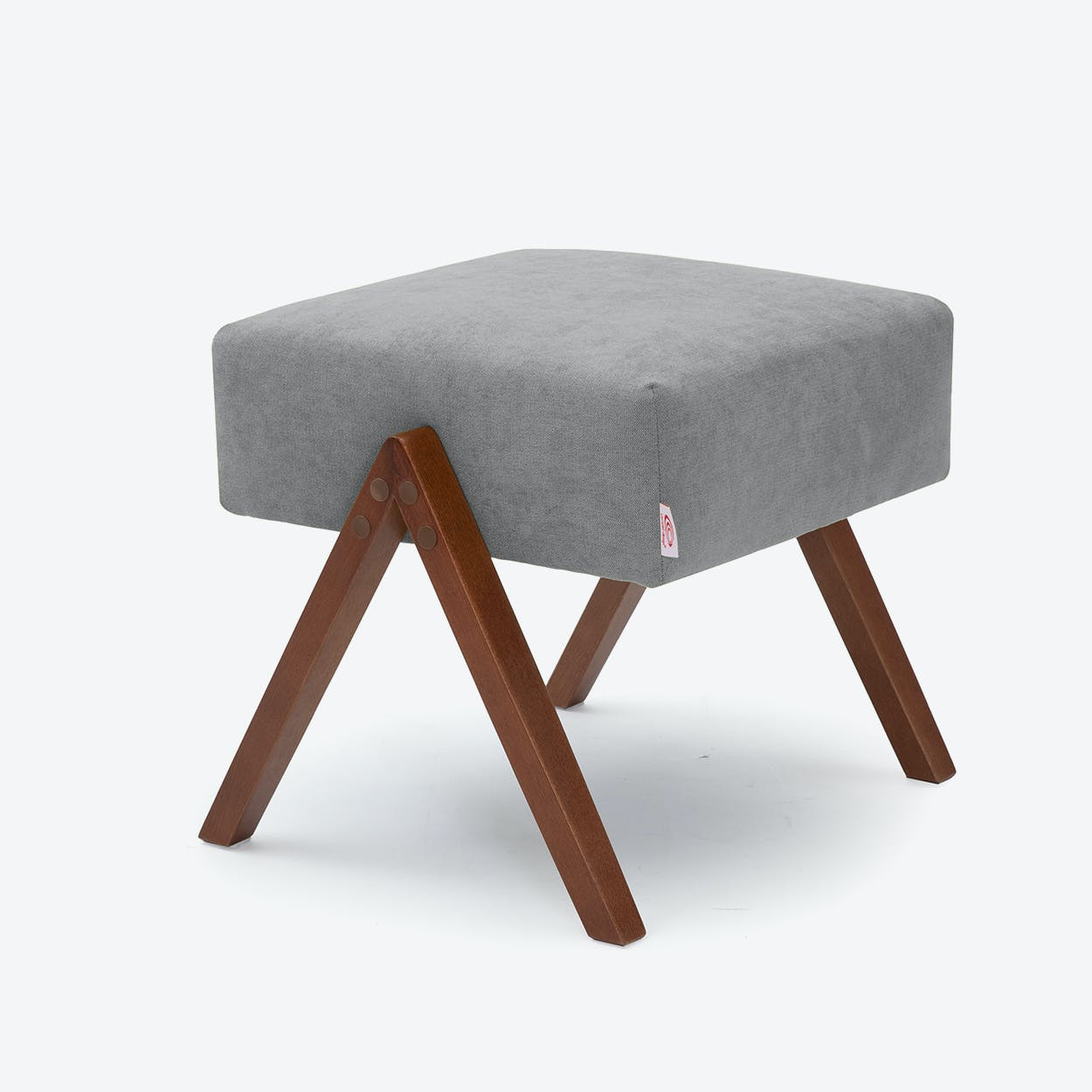 Retrostar Footstool - Basic-Line in Grey