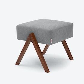 Retrostar Footstool - Basic-Line in Grey