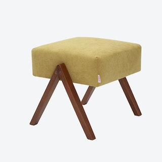 Retrostar Footstool - Basic-Line in Yellow