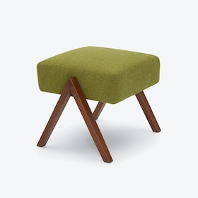 Retrostar Footstool - Basic-Line in Mustard-Green