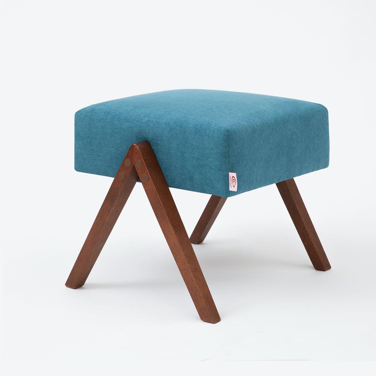 Retrostar Footstool - Basic-Line in Turquoise