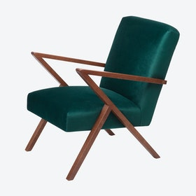 Retrostar Chair - Velvet Line in Hunter Green