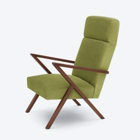 Retrostar Lounge Chair - Velvet-Line in Apple-Green