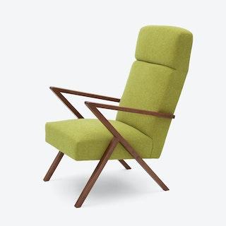 Retrostar Lounge Chair - Basic-Line in Mustard-Green