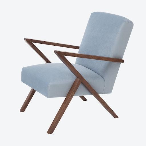 Retrostar Chair - Velvet Line in Ice Grey