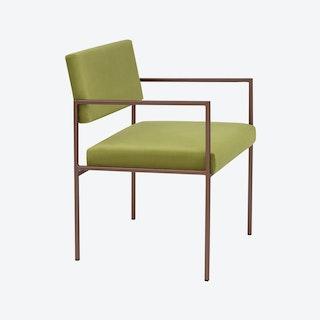 Cube Armchair Copper - Velvet-Line in Apple-Green