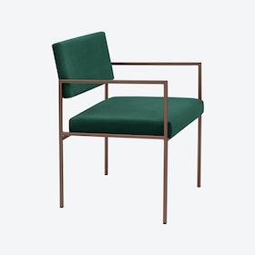 Cube Armchair Copper - Velvet-Line in Hunter-Green