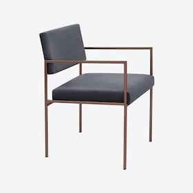 Cube Armchair Copper - Velvet-Line in Grey