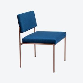Cube Chair Copper - Velvet-Line in Royal-Blue