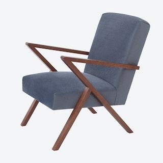Retrostar Chair - Velvet Line in Grey