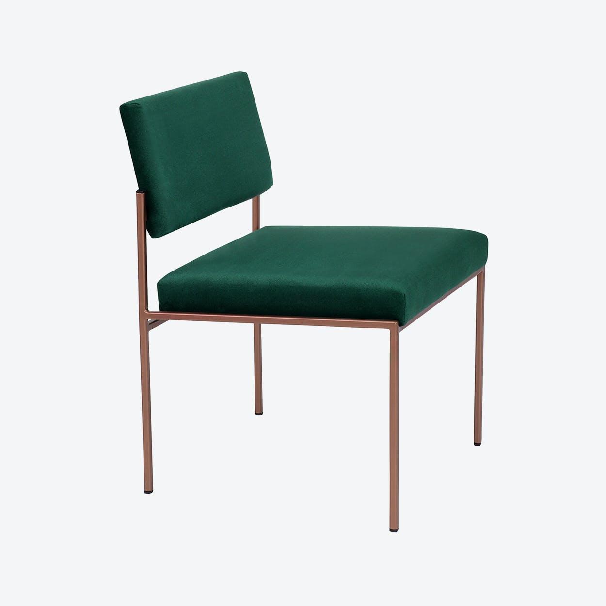 Cube Chair Copper - Velvet-Line in Hunter-Green