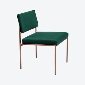 Cube Chair Copper - Velvet-Line in Hunter-Green