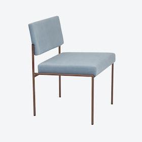 Cube Chair Copper - Velvet-Line in Ice-Grey