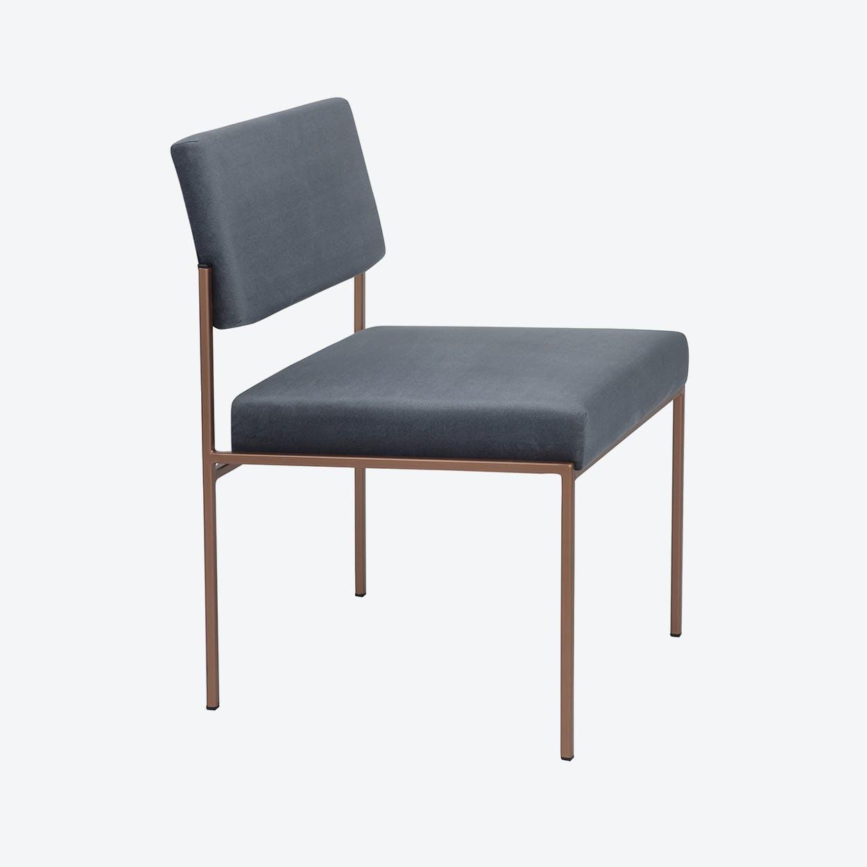 Cube Chair Copper - Velvet-Line in Grey