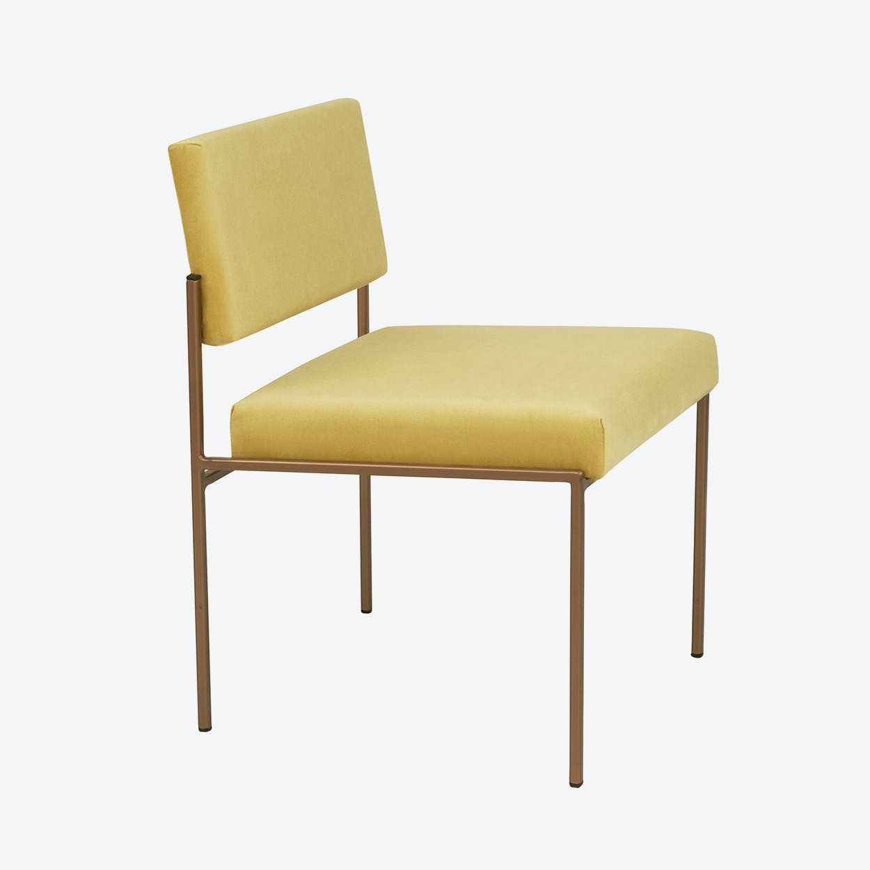 Cube Chair Copper - Velvet-Line in Lemon-Yellow