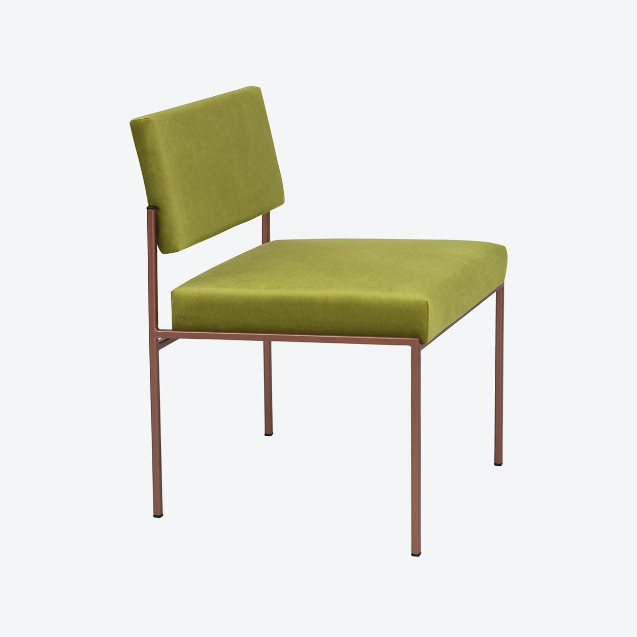Cube Chair Copper - Velvet-Line in Apple-Green