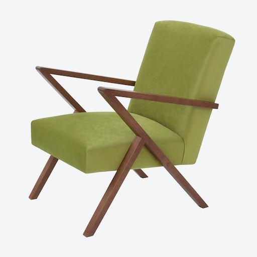 Retrostar Chair - Velvet Line in Apple Green