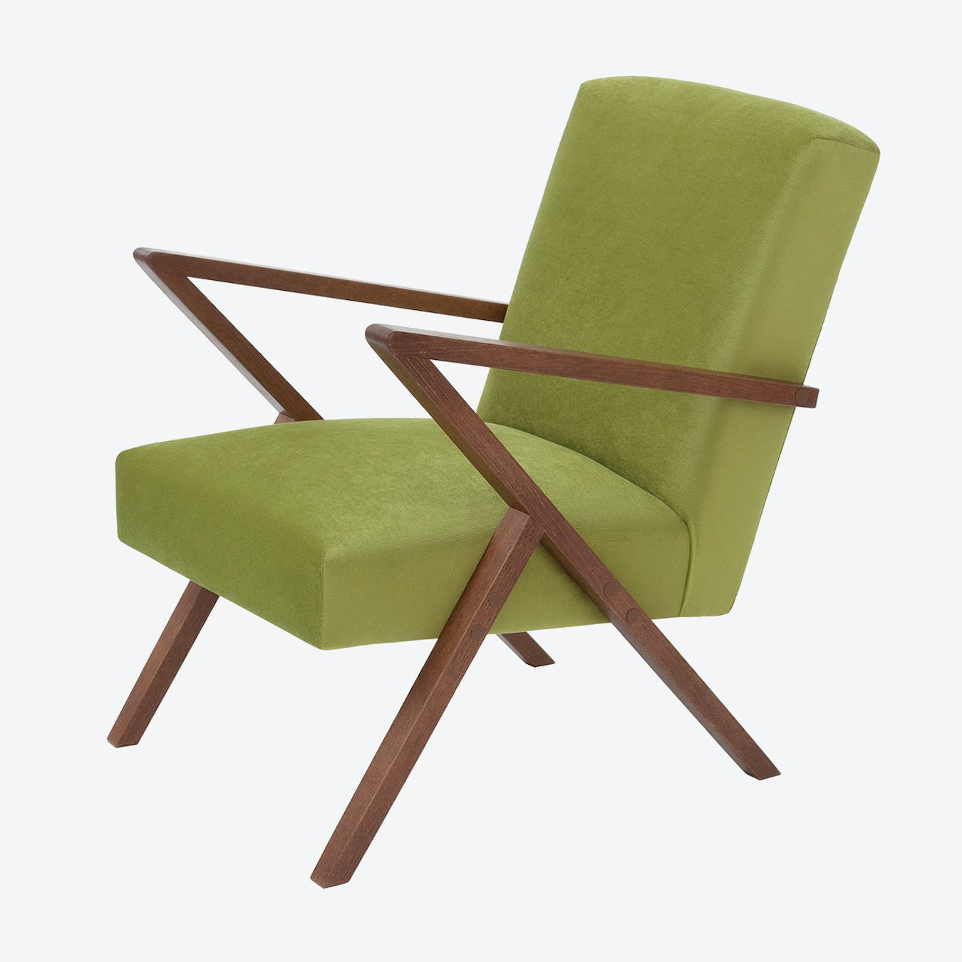 Retrostar Chair - Velvet Line in Apple Green