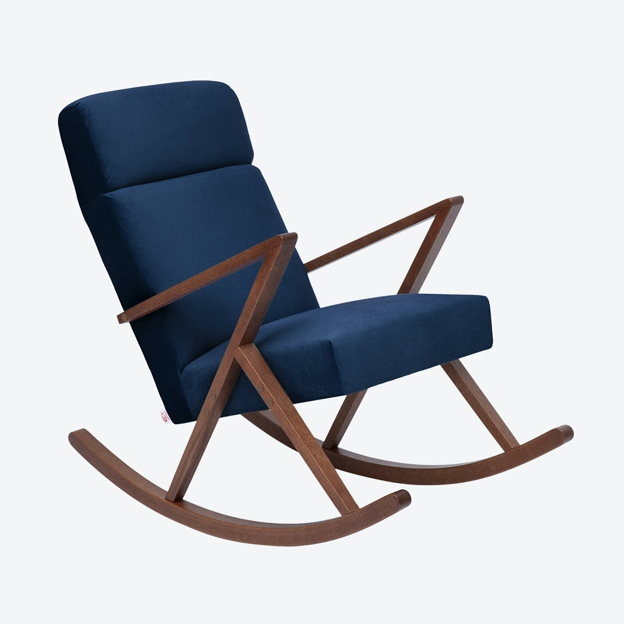Retrostar Lounge Rocker - Velvet-Line in Navy-Blue