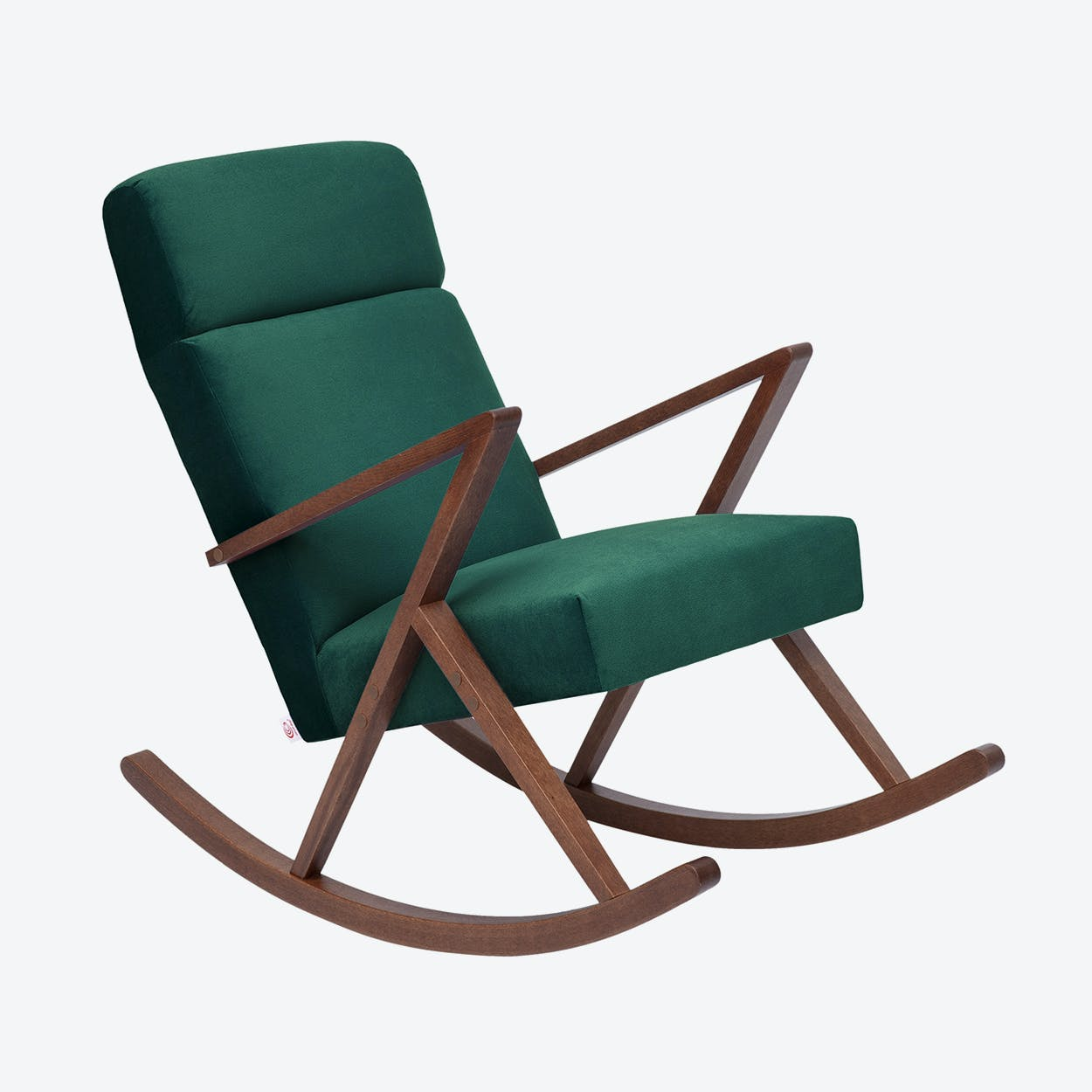 Retrostar Lounge Rocker - Velvet-Line in Hunter-Green