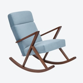 Retrostar Lounge Rocker - Velvet-Line in Ice-Grey