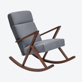 Retrostar Lounge Rocker - Velvet-Line in Grey