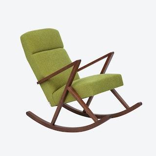 Retrostar Lounge Rocker - Basic-Line in Mustard-Green