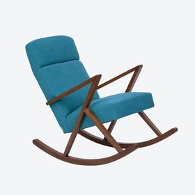 Retrostar Lounge Rocker - Basic-Line in Turquoise