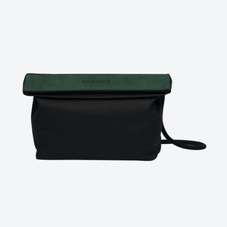 Handbag in Charcoal and Malachite