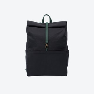 Backpack in Charcoal and Malachite