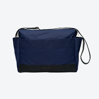 Messenger Bag in Navy and Charcoal