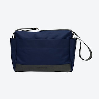Messenger Bag in Navy and Stone