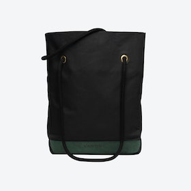 Shopper Bag in Charcoal and Malachite