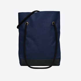 Shopper Bag in Navy and Charcoal