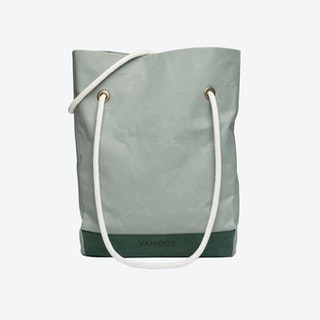 Shopper Bag in Oyster and Malachite