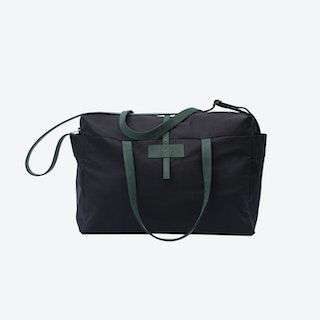 Travel Bag in Charcoal and Malachite