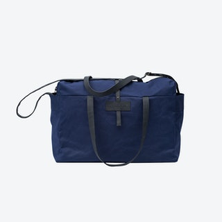 Travel Bag in Navy and Charcoal