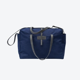 Travel Bag in Navy and Stone