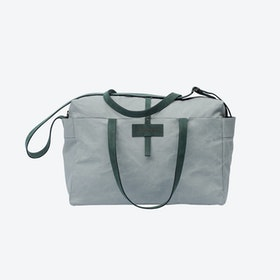 Travel Bag in Oyster and Malachite