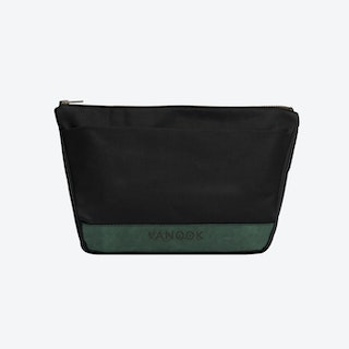 Wash Bag in Charcoal and Malachite
