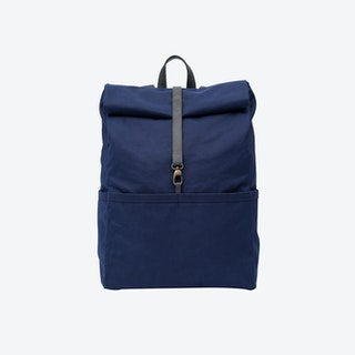 Backpack in Navy and Stone
