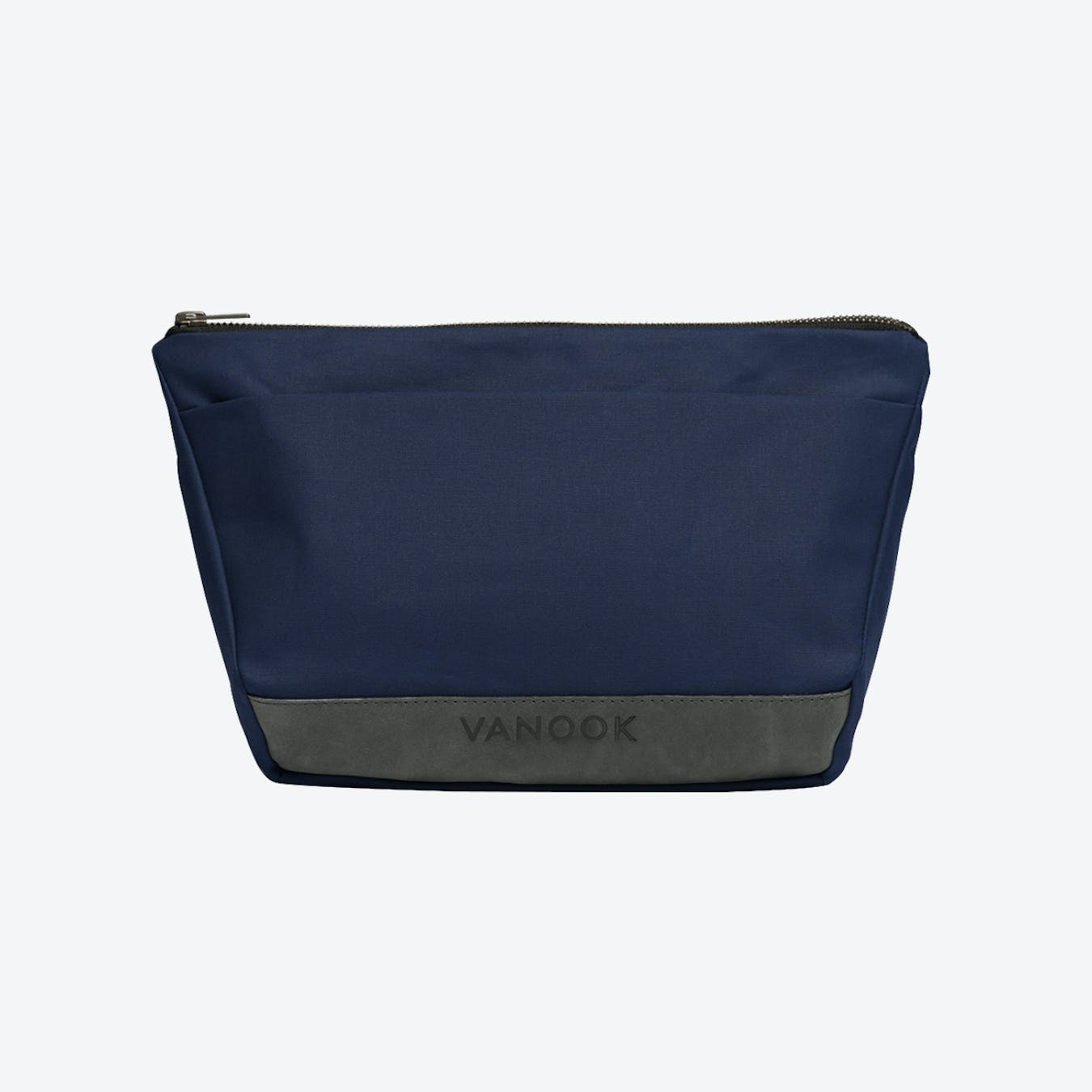 Wash Bag in Navy and Stone