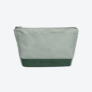 Wash Bag in Oyster and Malachite