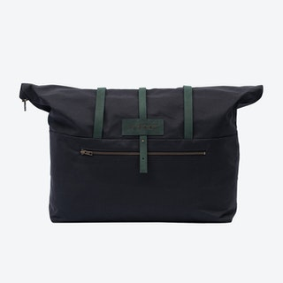 Weekender Bag in Charcoal and Malachite