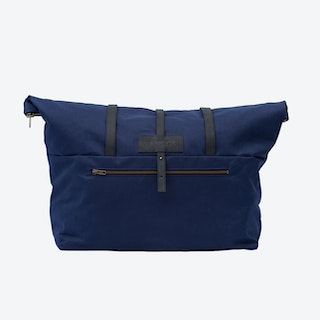Weekender Bag in Navy and Charcoal