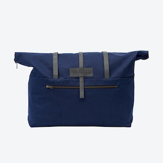 Weekender Bag in Navy and Stone