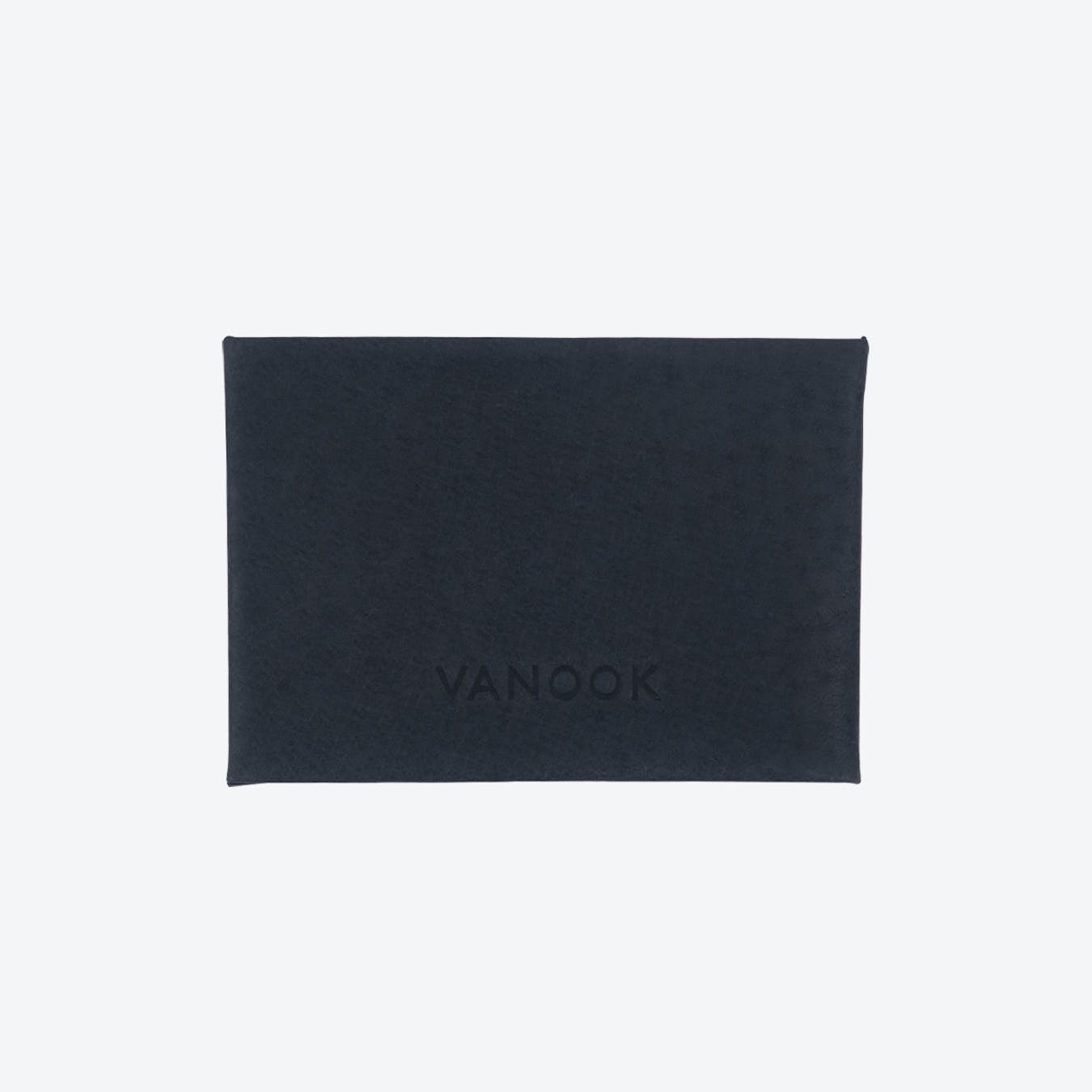 Horizontal Card Case in Charcoal