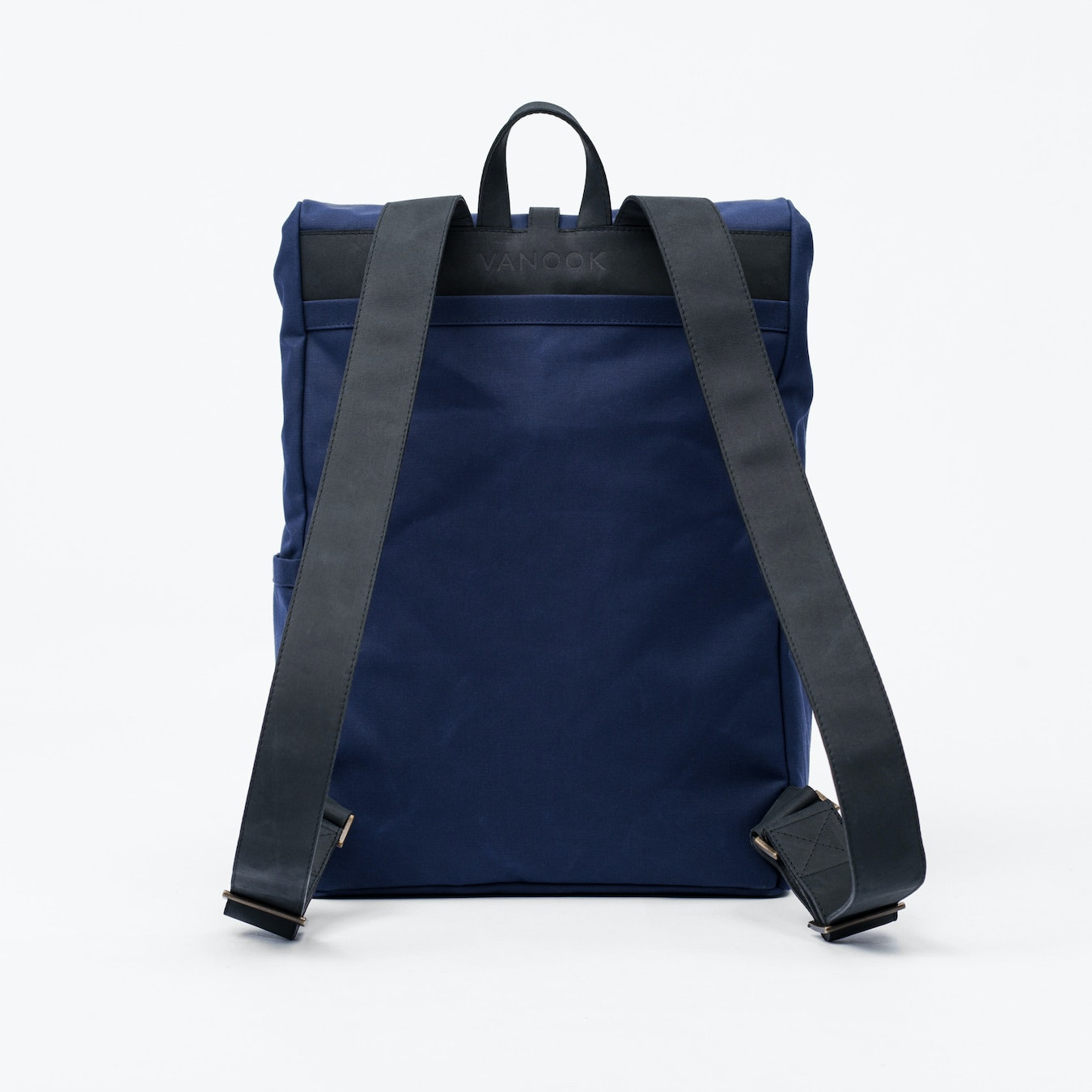 bbaaf47662 Backpack in Navy and Charcoal by Vanook - Fy